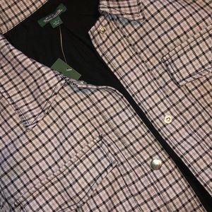 Cropped purple plaid top/jacket